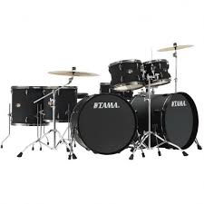 tama ip72zh8n bbob double bass drum kit black cymbals