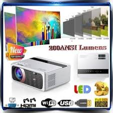 <b>HD</b> Mini Projector <b>GP200</b> Native 1920 x <b>1080P</b> LED Android WiFi ...