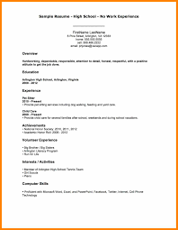 6 Writing A Resume With No Work Experience Resign Latter