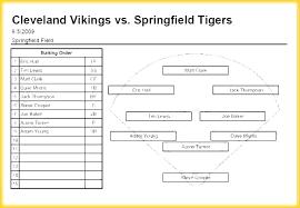 Baseball Roster Template Little League Lineup Card