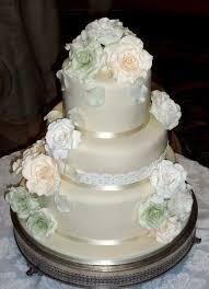 63 best wedding cakes by eva rose cakes images on pinterest rose Wedding Cake Toppers Toowoomba lace and pastel handmade sugar roses wedding cake with pistachio cake and chocolate ganache inside by Romantic Wedding Cake Toppers