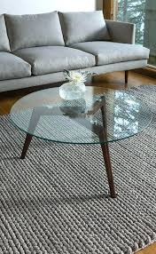round wood glass coffee table mid century modern coffee table with dark stained wooden legs and