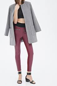 see return policy a pair of faux leather skinny pants featuring a five pocket construction zip fly on waist belt loops fully lined light to