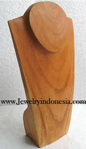 Wooden Necklace Display Stands JEWELRY DISPLAYS MADE OF WOOD FROM BALI INDONESIA 14