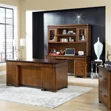 martin furniture executive desk credenza and hutch in warm fruitwood imke680 689 682 pkg