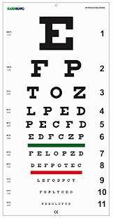 20 20 Vision Chart Amazon Com Snellen Distance Vision Eye Chart 20feet Health