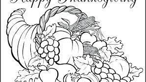 Cornucopia Coloring Page Pdf Thanksgiving Cornucopia Coloring Pages