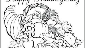 Cornucopia Coloring Page Pdf Thanksgiving Cornucopia Coloring Pages