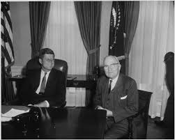 jfk in oval office. File:Photograph Of Harry S. Truman And JFK In The Oval Office.jpg Jfk Office F