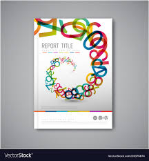 Maths Cover Design Modern Abstract Brochure Design Template Vector Image