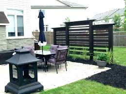 outdoor privacy wall ideas deck screen walls for decks best patio home depot id