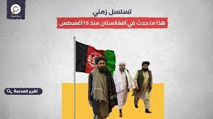 تسلسل زمني.. هذا ما حدث في أفغانستان منذ 15 أغسطس - العدسة