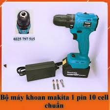 Bộ 1 Pin) Máy Khoan Pin Makita 72V 25 cấp độ trượt 2 cấp tốc độ dùng khoan bắt  vít bắn tôn
