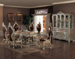 Table  Round Glass Dining With Metal Base Tray Ceiling Home - Formal dining room set