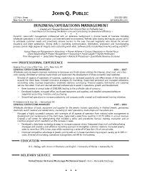 Operations Resume Objective Professional Resume Templates