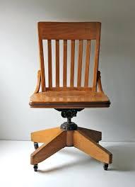 antique oak office chair swivel chic vintage solid