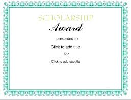 Scholarship Certificate Template For Word Award Certificate Template Word Jtmartin Co