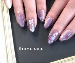 人気のマンスリーdesign 美爪でリーフホロ Rhime Nail 和泉