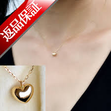 japan made heart necklace heart pendant las skin j jewelry jewelry for women gift high quality first jelly skin j jewelry birthday necklace 18 k gold k18