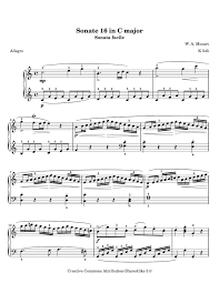 mozart piano sonata sheet music mozarts piano sonata no 16 movement 1 k545 sheet music for piano