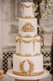 Gold Wedding White Gold Wedding Cakes 2097280 Weddbook