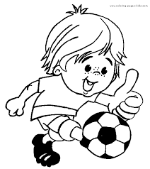 Soccer Color Page Coloring Pages For Kids Sports Coloring Pages