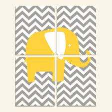 pink and yellow toddler bedding beautiful modern nursery quad set of four 8x10 prints chevron elephant