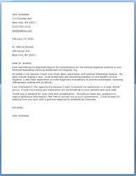 Dental Assisting Cover Letter Dental Assistant Cover Letter Examples