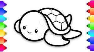Baby Turtle Coloring Pages Wumingme