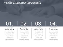 Sales Meeting Agenda Weekly Sales Meeting Agenda Ppt Powerpoint Presentation Show