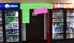 Lemonade Vending Machine Classy OLC Global's Lemonade Stand Alex's Lemonade Stand Foundation For