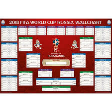 Football League Table Wall Chart 2018 Fifa World Cup Russia Bracket Chart Poster Soccer