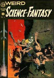 frank frazetta art for weird science fantasy june 1955 ec ics originally made for famous funnies buck rogers issue but considered too violent for