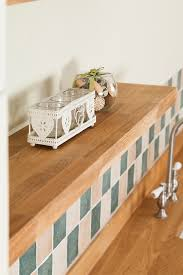 shown solid oak floating shelf