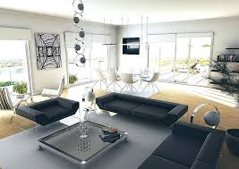 black modern living room colors for a cozy living room with cool modern black sectional sofa