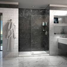 Linea Frameless Shower Door 34 in. x 72 in. Open Entry Design - Free  Shipping Today - Overstock.com - 17587528