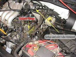 vwvortex com diy replacing driver side coolant flange on a mkiv remove the engine cover if applicable remove your air box and the tubing that connects it to the throttle body and set it to the side