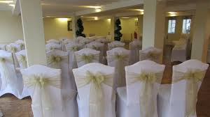 light champagne gold sashes chair covers supplied by the bride