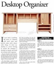 desktop organizer plans