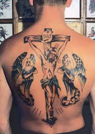 православные наколки на спине татуировки печальная мода