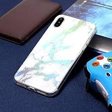 KIOKIOIPO-N Fashion Color Plated Marble TPU Case ... - Amazon.com
