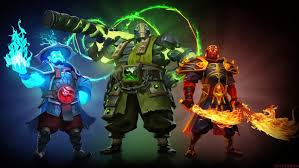 video game dota 2 heroes storm spirit earth spirit and ember