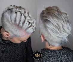 short hairstyles for women with thin fine hair braided pixie