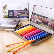 deli sketch pencil set hb 2b 2h sketching drawing kit wood for painter school students art supplies iron box 12pcs