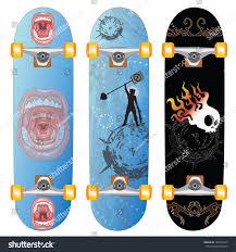 Cool Skateboard Designs Skateboard Design Urban Designs Stock Vector Royalty Free