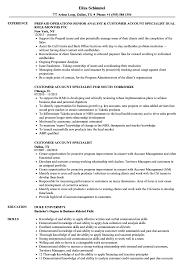 Staffing Specialist Resumes Customer Account Specialist Resume Samples Velvet Jobs