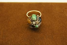 Old Handmade 14k Gold <b>Princess</b> Harem Ballerina Domed <b>Jade</b> ...
