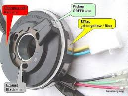 electrical info for husaberg motorcycles husaberg wiki stator wiring diagram the red bubble shows the charging coils for spark the green