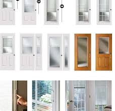 glass door inserts with blinds