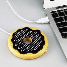 Creative USB Rechargeable <b>Thermal</b> Coaster <b>Donut</b> Shaped ...